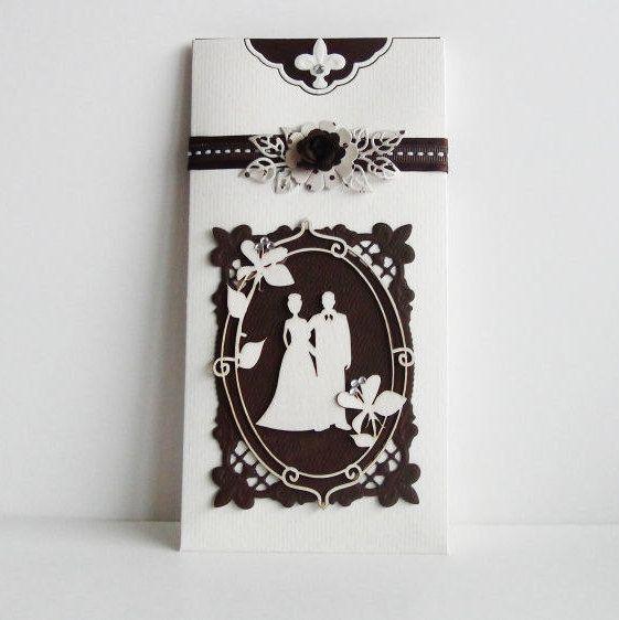 Summer Wedding Invitation - White Wedding Invitations - Shabby Chic Wedding Invitations - Vintage Wedding Invitations - Gift Card Holder (7.50 EUR) by LinaDeco