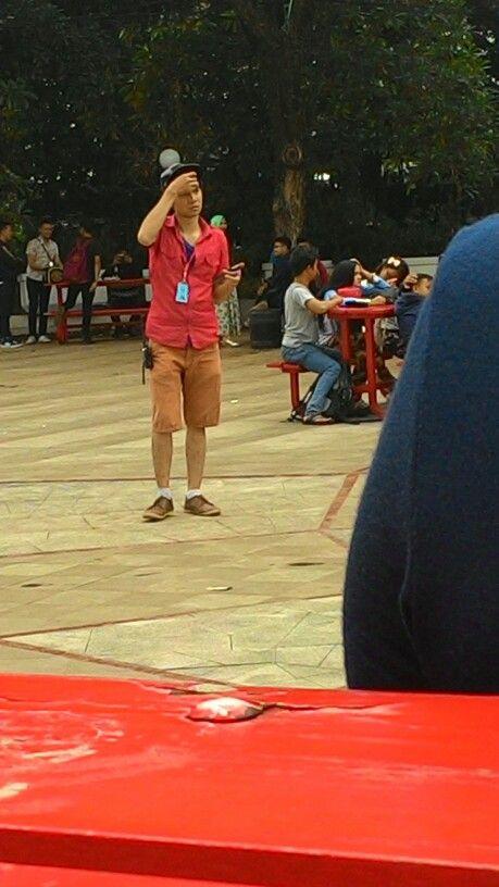 Aa ganteng misterius cool kece bet di event bangapta street 14 nov 2015