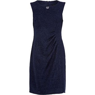 Midnight Blue Glittered Sheath Dress