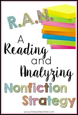 A Reading and Analyzing Nonfiction Strategy