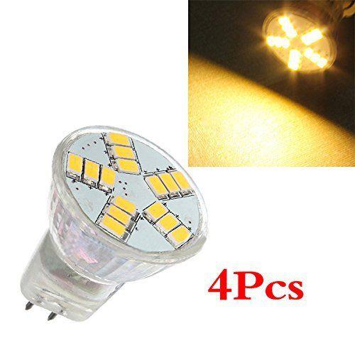 4x MR11 4W G4 15 SMD 5630 LED Energy Saving Spotlight Ampoule 12V blanc chaud   New #Affiliate