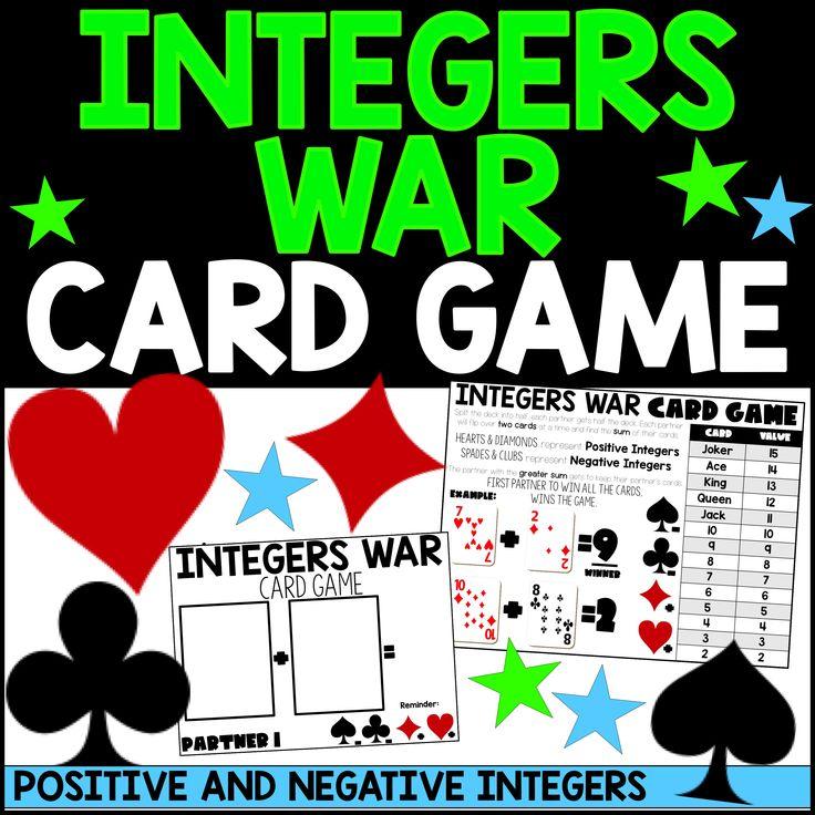 Integers war in 2020 war card game integers card games