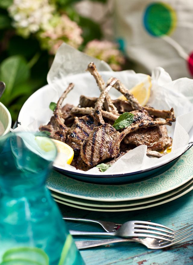 Organic Lamb Cutlets Marinaded in Mint, Garlic and Lemon