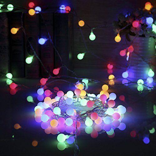 13M 100 LEDs Guirlande Lumineuse, SiFar 8 Modes Multicolore Avec EU-Prise, Lumières de Noël d'intérieur et extérieures Pour Jardin, Maison, Balcon, Fête et Cérémonie