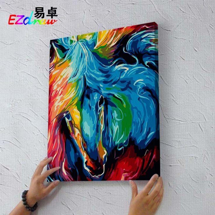 Desenhe pintura por números coloridos cara de cavalo 9010 DIY pintura a óleo por números colorir por números pintura pelo número Unique Gift em Pintura & Caligrafia de Home & Garden no AliExpress.com   Alibaba Group