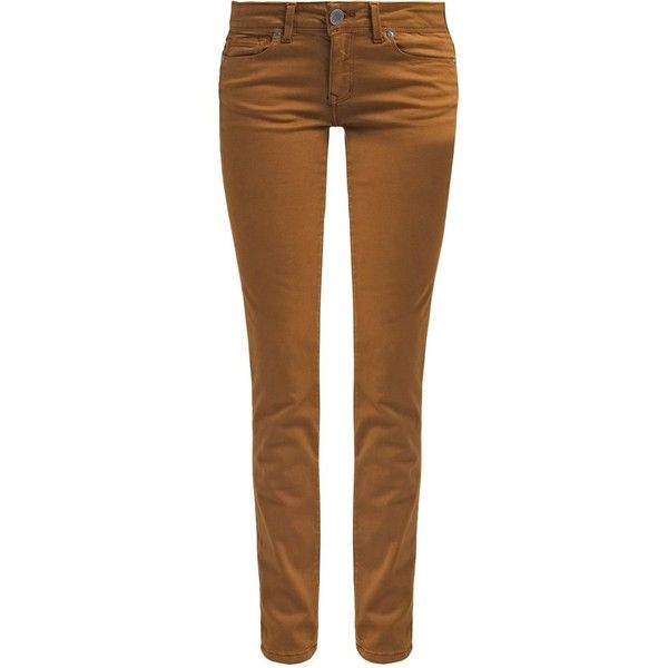 Cimarron JACKIE - Slim fit jeans - twilight desert - Zalando.co.uk ❤ liked on Polyvore featuring jeans, cimarron, slim cut jeans, brown jeans, cimarron jeans and slim fit jeans