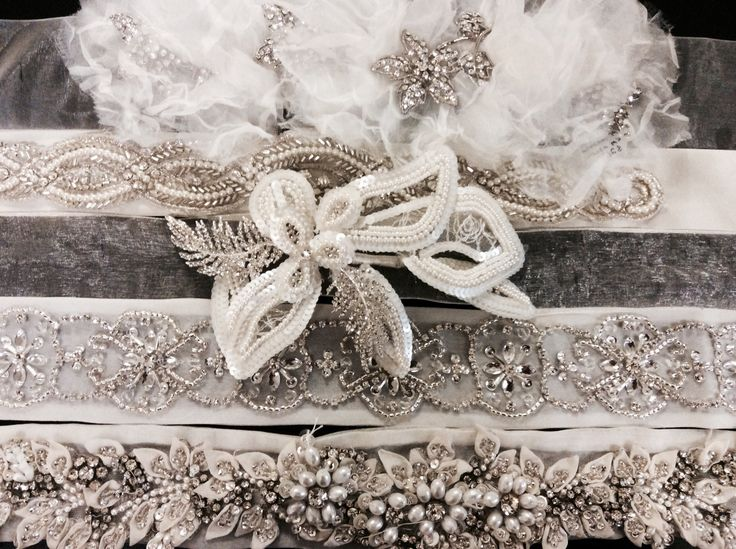 Some of our beautiful sashes at Hobnob bridal 2
