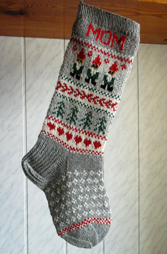 Knit Christmas Stockings 24 or 26 Personalized | Christmas ...