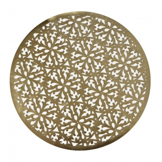 Complete the look at Christmas Dinner with a Harman Christmas Modern Lasercut Vinyl Placemat in Gold. Let the intricate pattern accentuate the rest of your finely appointed dining table.    Whether you're looking for stocking stuffers, Secret Santa presents, festive Christmas decor or even gift cards, we have a huge selection of unique holiday stuff to make your days and nights merry and bright.