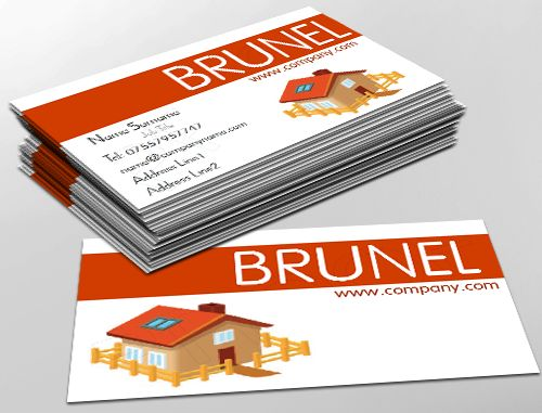 Classic Business Card Design, Ideal For Home Improvements. Customise A  Range Of Business Card