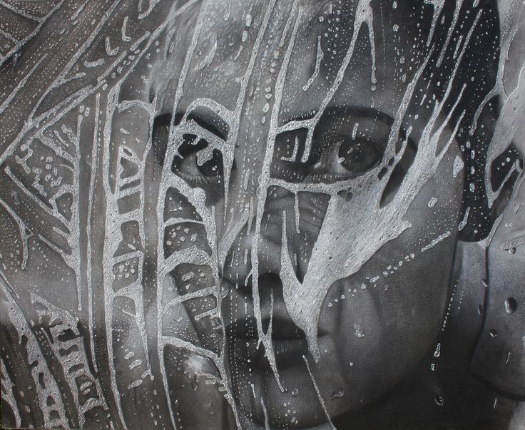 """Mask"" 100 x 81 cm Mixed Media on Canvas"