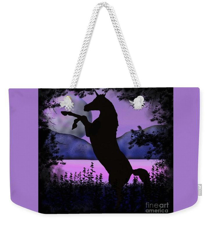 Night of the Unicorn weekender bag by Tracey Lee Art Designs