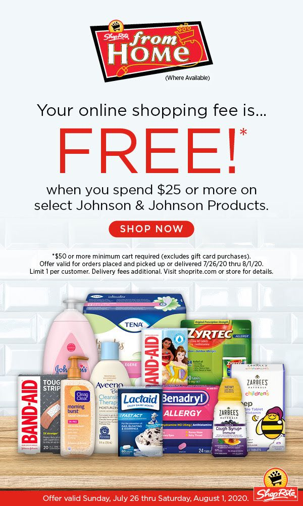 Shoprite From Home Online Shopping Fee Is Free July 26 2020 Thru August 1 2020 Home Online Shopping Shoprite Online