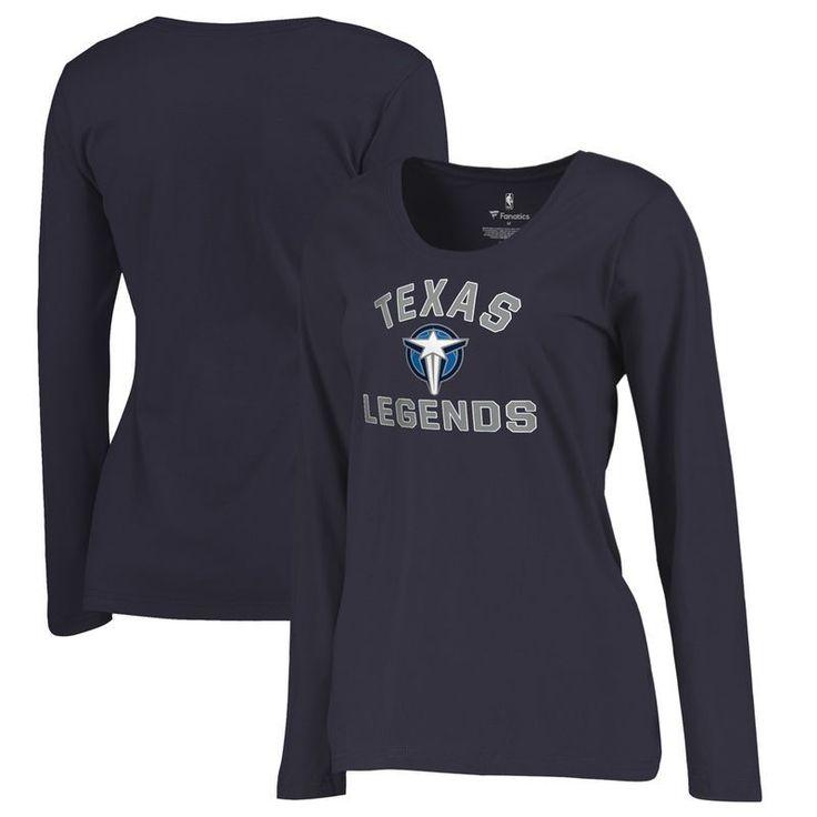 Texas Legends Fanatics Branded Women's Overtime Plus-Size Long Sleeve T-Shirt - Navy