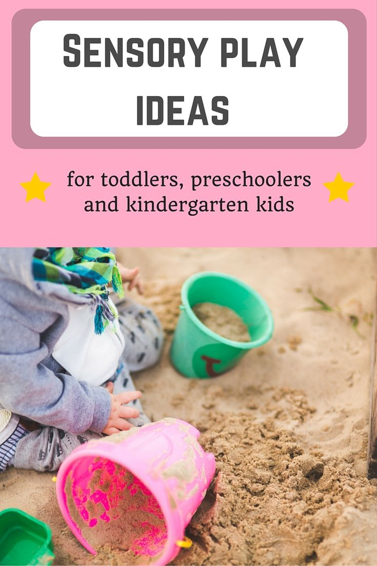 Sensory play can be extremely fun and educational: here are some ideas for toddlers, preschoolers and kindergarten kids