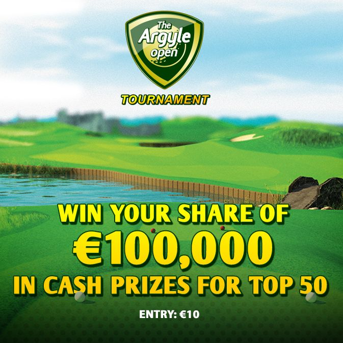 Win your share of €100,000 in cash prizes for top 50  Tournament Details: Name: €100K Argyle Open Guaranteed prize pool: €100,000 Cash prizes: for the top 50 Tournament ID: 723081 Duration: 1-30 September 2014 until 23.59 GMT Game played on: The Argyle Open Entry: €10