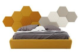 Tea Acoustic Panels  Contemporary, Upholstery  Fabric, Wood, Headboard by Lepere