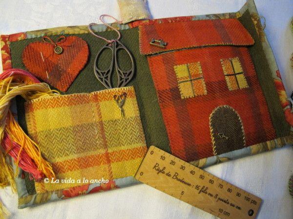 ACCESORIOS-DE-LANA 0607: Con Tela, Handmade Sewing, Carteras Necesers Monederitos, Wool Felt Embroidery, Applies Projects, Wool, Accesorios Costura, Accesorios De Lana 0607