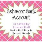 I created this program to use with my 2nd grade class this past year. I use a clip chart to keep track of student behavior but it can work with any behavior management program that you have in your classroom. Included in the download: *Explanation of the Behavior Bank Account program and how to keep track of information *Printable Recording sheets for keeping track of Student Bank Accounts *3 Printable Pre-made Clip Charts with labels for levels *Powerpoint file of EDITABLE blank clip ...