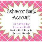 Behavior Bank Account: A Behavior Management Program Supplement