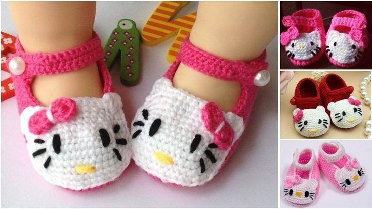 Voici comment fabriquer de magnifiques chaussures Hello Kitty en crochet pour votre bébé