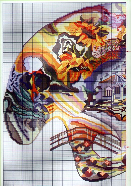 Cross-stitch An Artistic World, part 2...  color chart on part 3...   Gallery.ru / Фото #5 - + - Hela76