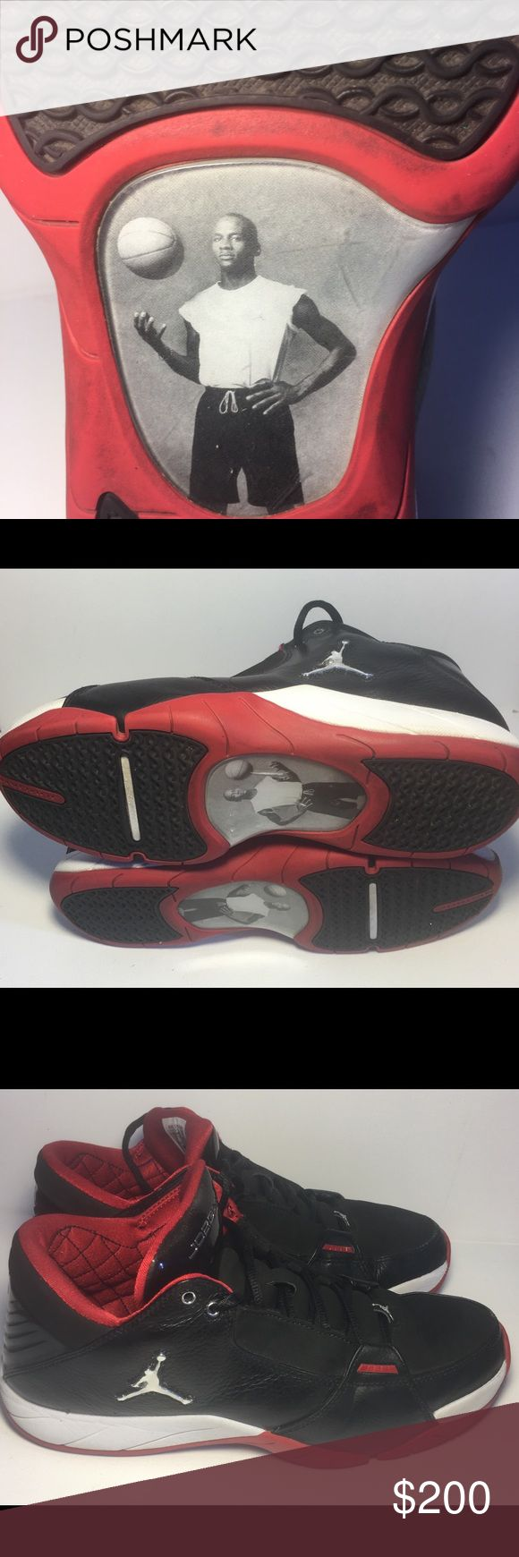 Rare Retro Nike Air Jordan 23 Hoops Low Black/Red Nike Air Jordan 23 Hoops Low Black/Red- Metallic Silver 314312-005 Retroed under the wide popularity and matured technology of Jordan brand,the Air Jordan Hoops Low, which with elegant atmosphere, aroused great attention.Stimulated by Air Jordans,this remarkable not only with classic design concept but also the outstanding performance was regarded as a great masterpiece of Air Jordan Jumpman series. 🏀EUC 🏀 Nike Shoes Athletic Shoes