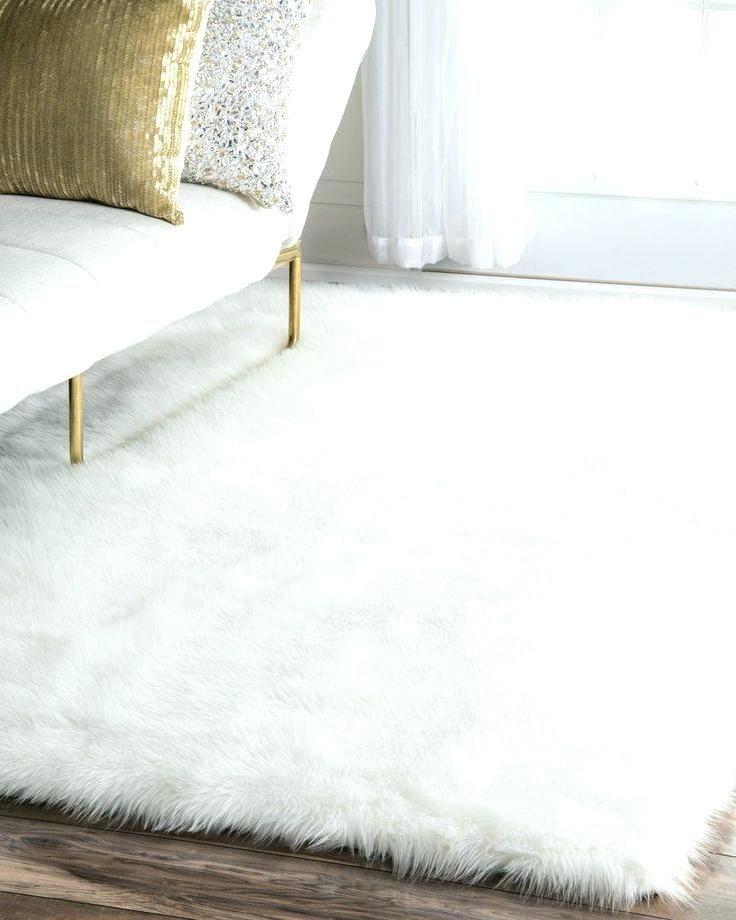 Faux Sheepskin Rug Or Fur
