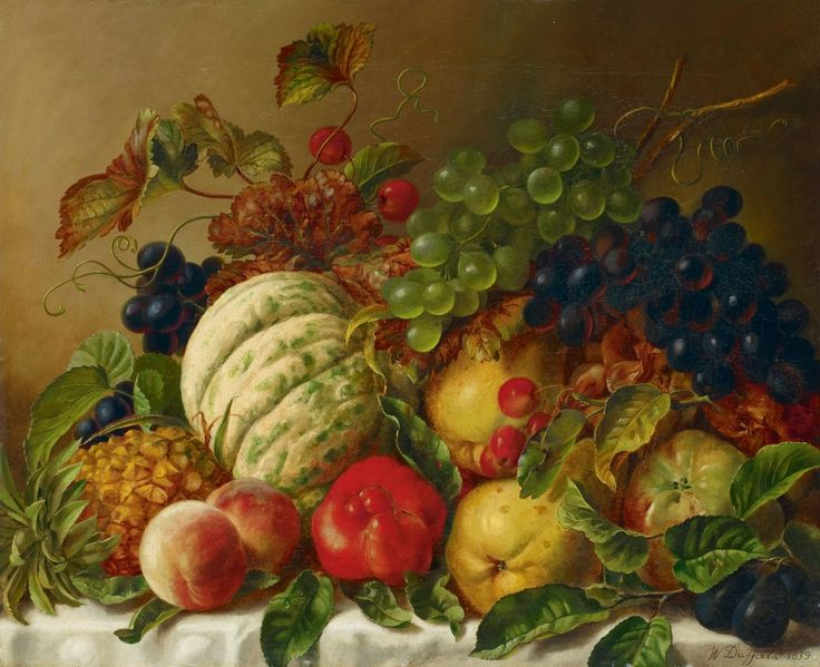 Famous still life paintings of fruit