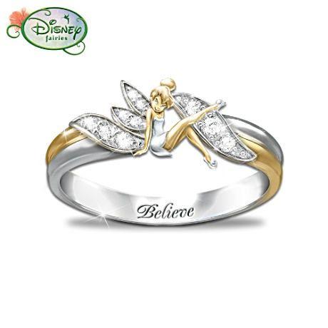 <3 Mine: Wedding Ring, Belle Rings, Tinkerbell 3, Tink Rings, Tinker Belle, Art Tinkerbell, 460, Engagement Rings, Tinkerbell Rings