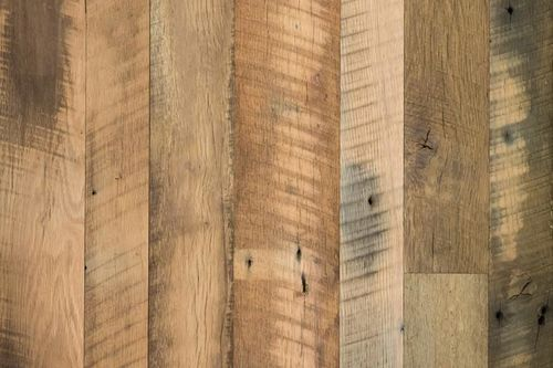Sawmill Reclaimed Oak Unfinished Wall Cladding With Raw