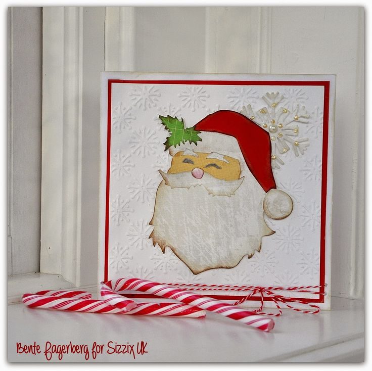 Sizzix Card Making Ideas Part - 34: Crafting Ideas From Sizzix UK: Santa Christmas Card. Used Tim Holtz New St  Nick