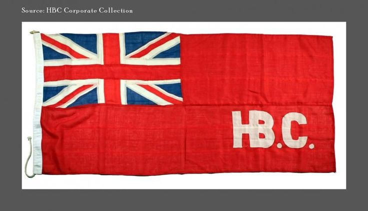 The Hudson's Bay Company's original flag: HBC had the right to use the flag, a version of a naval flag, on ships entering Hudson Bay and on its forts. First Nations soon recognized it and knew they could come to trade furs wherever it was flown. Aboriginal traders would be welcomed into the fort or post where the trading process began with a traditional ceremony. | HBC Heritage