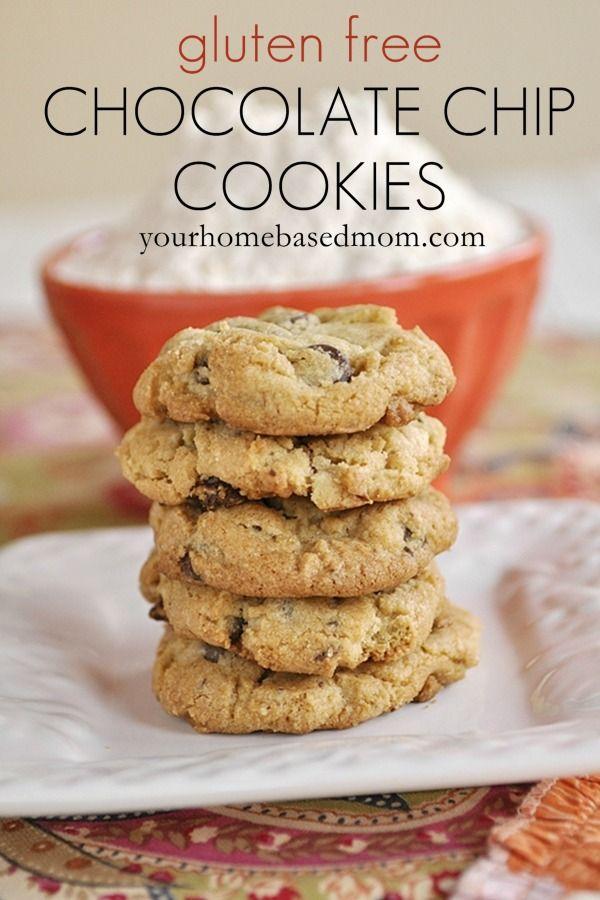 Gluten Free Chocolate Chip Cookies (Recipe)...For more gluten free recipes visit https://www.facebook.com/GlutenFreeRecipesForKids