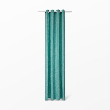Gardin Calypso med öljetter, 110x240 cm, turkos