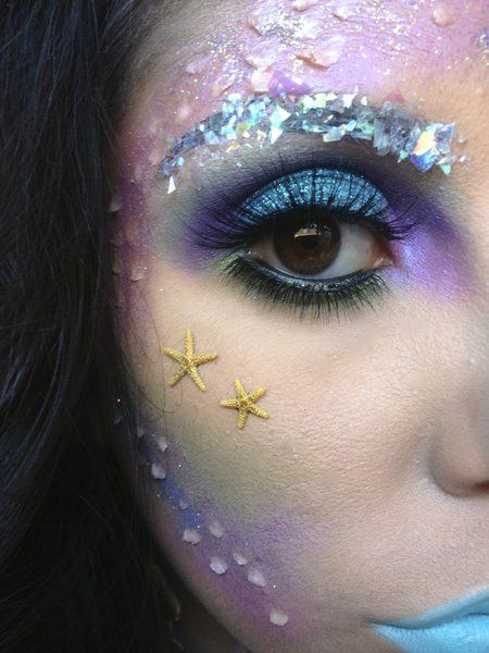 Mermaid inspired eye makeup! #eyes #eyeshadow