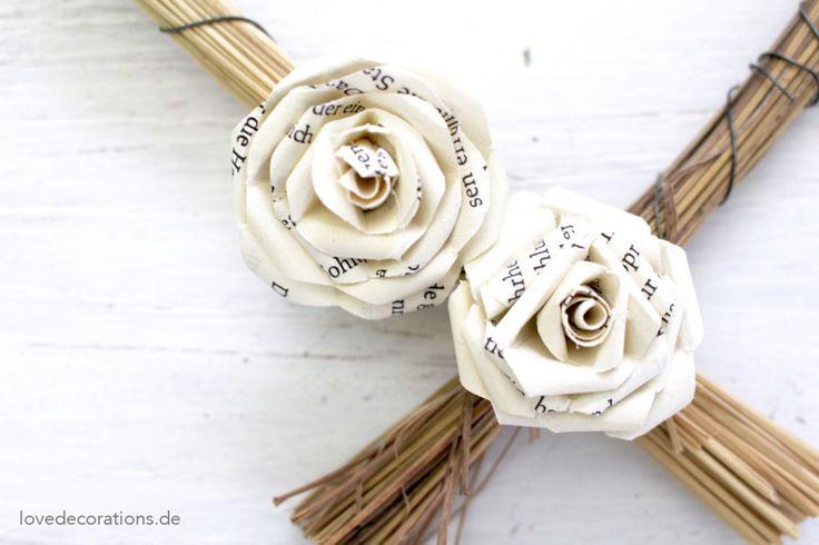 die besten 25 rosen aus papier ideen auf pinterest rosen basteln blumen aus papier und. Black Bedroom Furniture Sets. Home Design Ideas