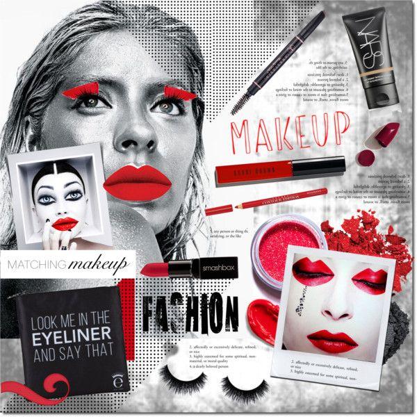 #makeupfashion by justlovedesign on Polyvore featuring beauty, Lime Crime, NARS Cosmetics, Bobbi Brown Cosmetics, Smashbox, Anastasia Beverly Hills, Bourjois, Lipstick Queen, Eyeko and Estée Lauder