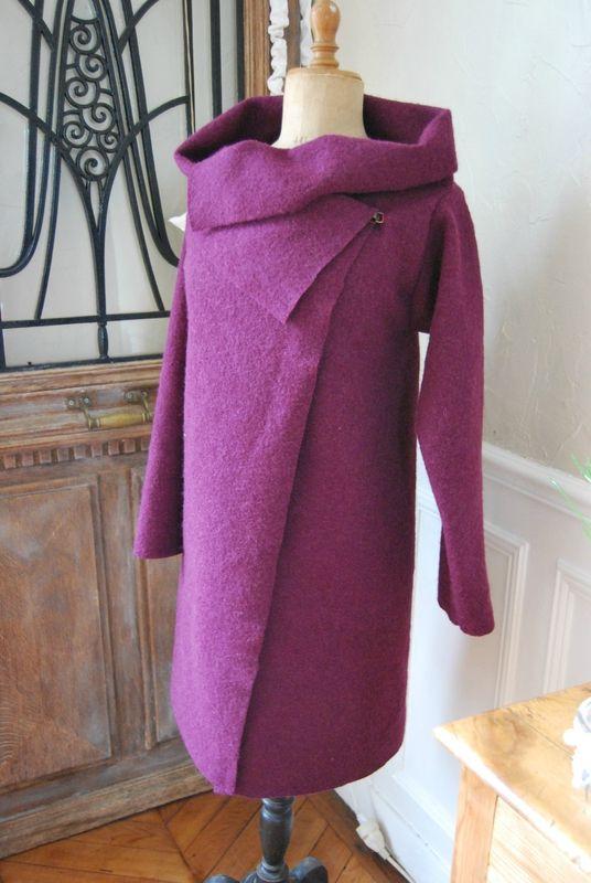 un manteau de printemps - 1m20 de laine bouillie!                                                                                                                                                     Plus