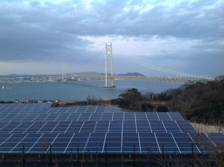 Kobe-Awaji -bridge. Japan.  The Akashi Kaikyo Bridge is, with a length of almost four kilometers, the world's longest suspension bridge.