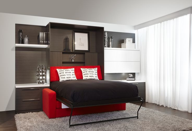 Sofa-lit escamotable   Murphy bed over sofa