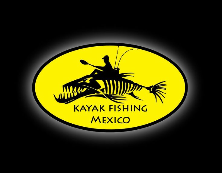 logo de club de pesca en kayak kayak fishing nayarit