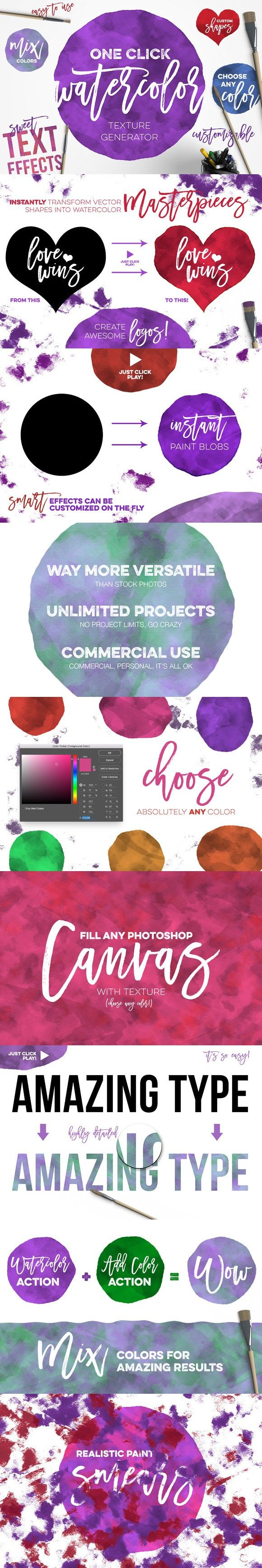 Poster design generator - Watercolor Texture Generator
