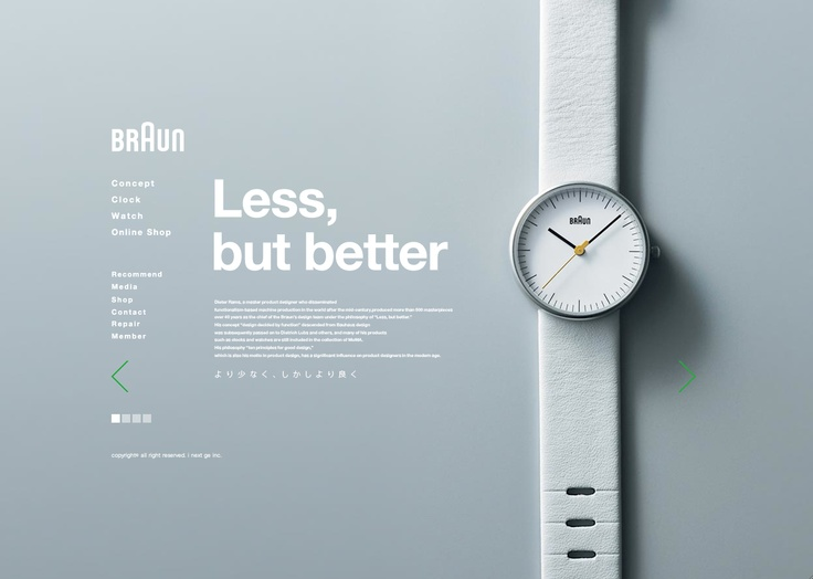 "braun - ""less but better"" - #minimal #web #design"