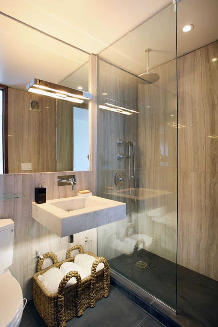 Contemporary condo bath modern bathroom chicago by jill jordan - Bathroom Choosing Small Bathroom Sinks Wall Mount Small Bathroom Sinks Marble In Small Bathroom
