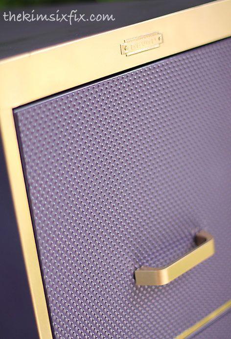 Filing Cabinet Makeover Using Plastic Fluorescent Light Diffusers :: Hometalk