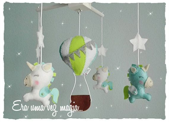 Felt baby mobile Owls Stars Moon and Clouds Baby's Room