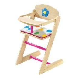 wooden doll highchair