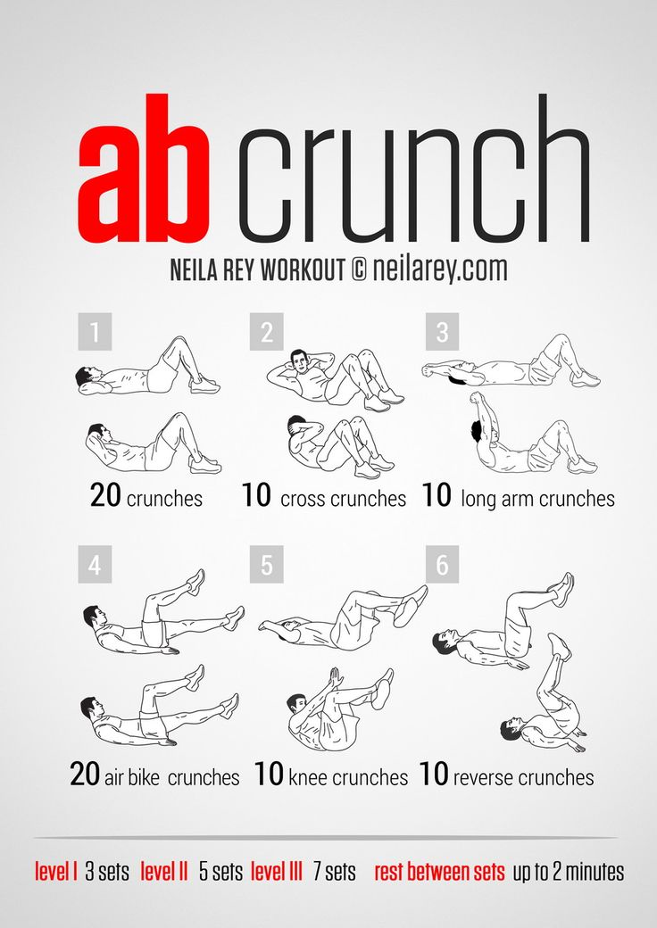 Crunch Workout For Men And Women  Abs Workout For Women -8831