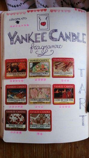 Ed ecco la sezione del mio bullet journal dedicata alle yankee candle .Le tart sono le mie preferite.Ho pensato di inserirvi gli adesivi e le stelline per indicare quali sono quelle che mi piacciono di più.Ci saranno un bel po' di adesivi prossimamente ... spesona in vistaaaaa